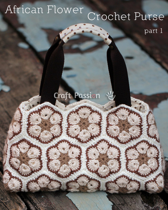 Crochet African Flower Purse Free Pattern Craft Passion