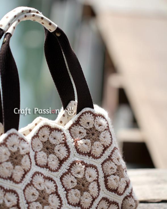 flower bag crochet pattern
