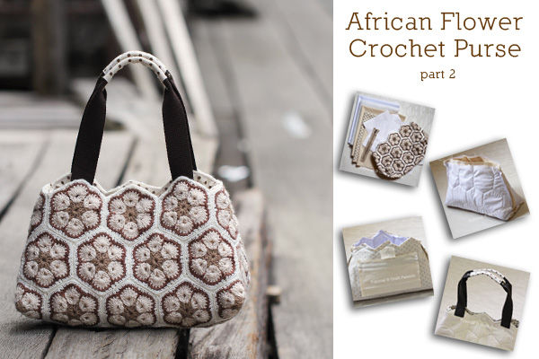 African Flower Purse – Part 2