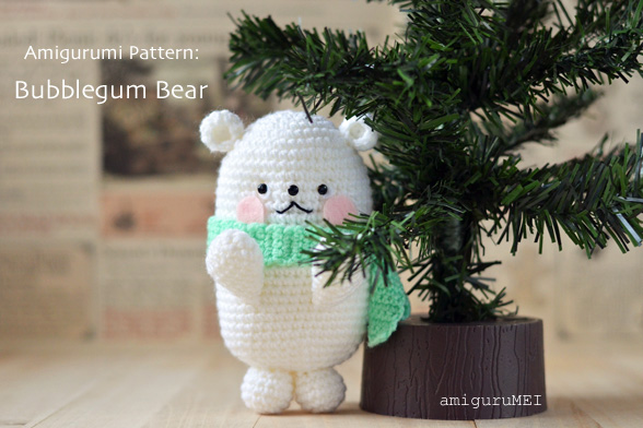 Bubblegum Polar Bear Amigurumi Crochet Pattern
