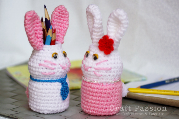 bunny holder amigurumi pattern