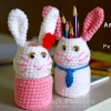 Bunny Holder Amigurumi