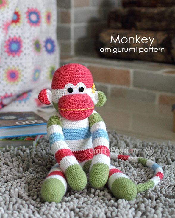 Sock Monkey Amigurumi - Free Pattern | Craft Passion