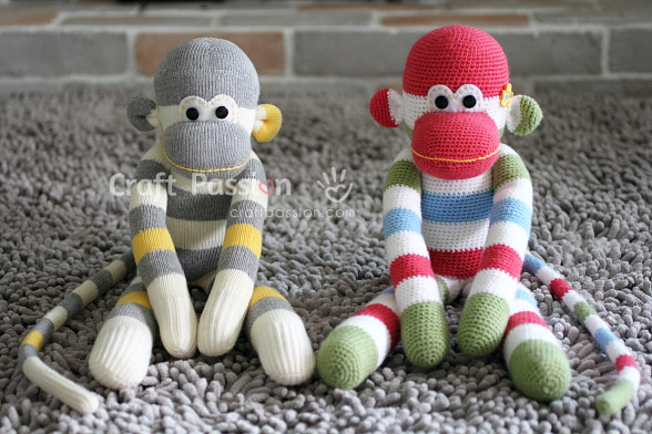 amigurumi sock monkey