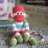 Sock Monkey Amigurumi Pattern