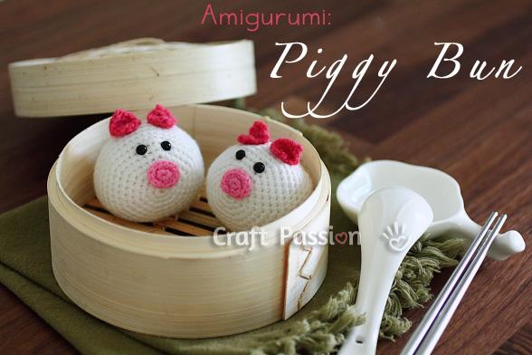Piggy Bun Amigurumi