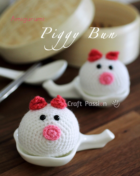 Piggy bun amigurumi pattern