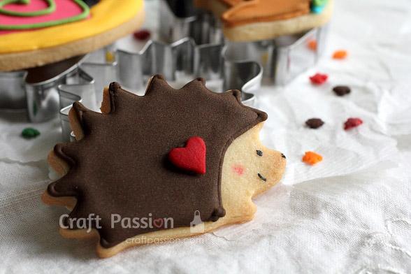 hedgehog sugar cookies