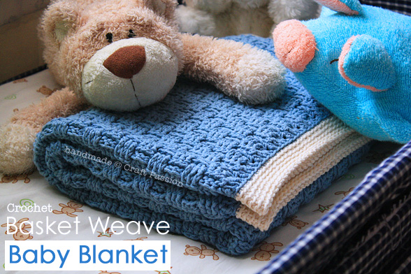 Basket Weave Crochet Pattern - Baby Blanket | Craft Passion Free Pattern