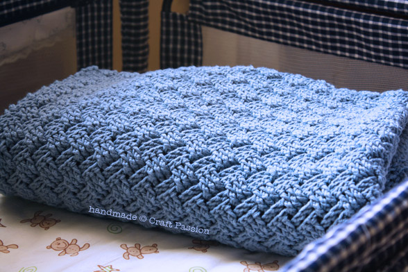 Basket Weave Crochet Pattern Baby Blanket Craft Passion Free Pattern