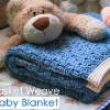 Basket Weave Crochet Pattern – Baby Blanket