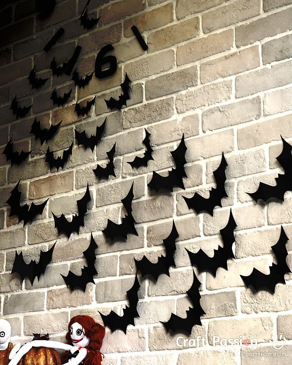 bats flying wall decor