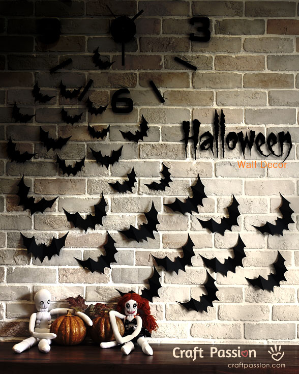 flying bat wall decor