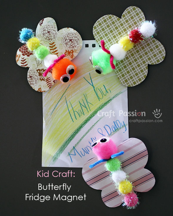 butterfly fridge magnet