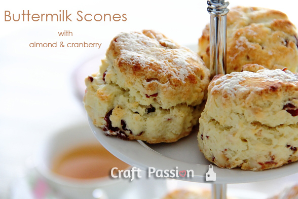 Buttermilk Scones – Almond & Cranberries