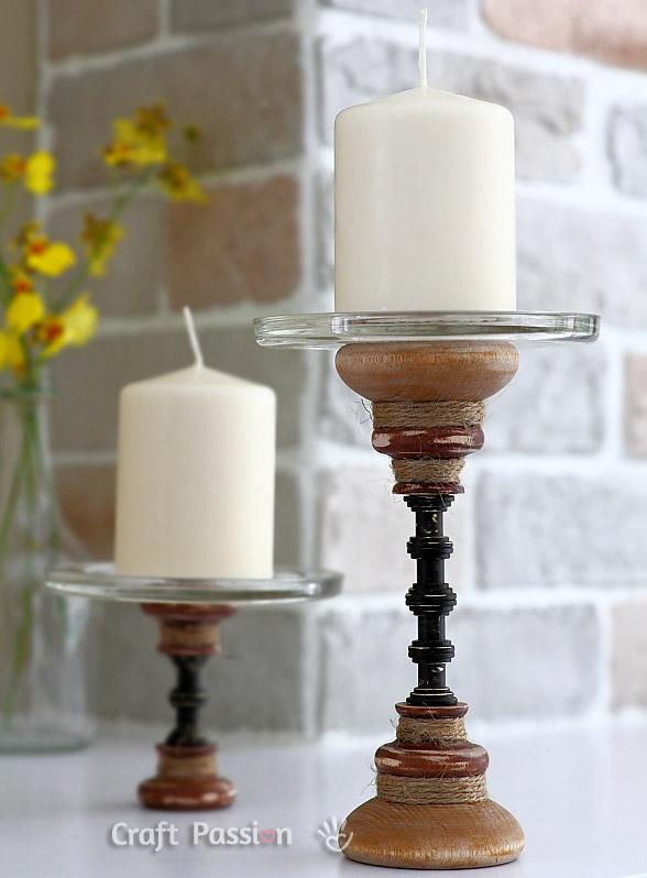 DIY round candlestick stand