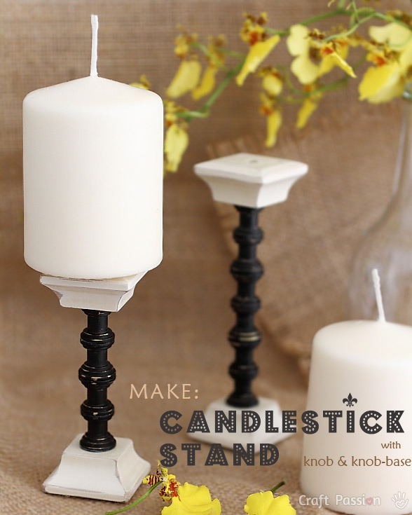 diy candlestick stand