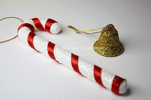 Refurbish old Christmas ornament, candy cane