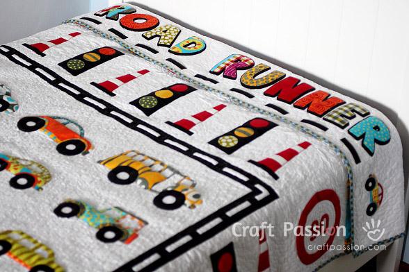 traffic road runner quilt