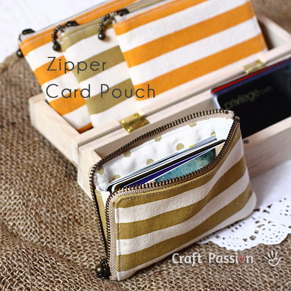 zipper card pouch pattern