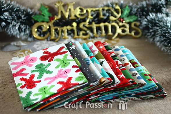 Giveaway: A Dozen Christmas Fat Quarters {Closed}