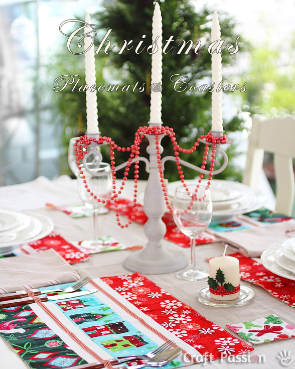 christmas placemats coasters