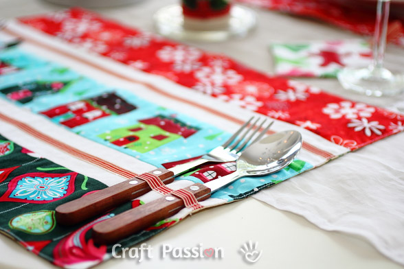 cutlery holder on placemats