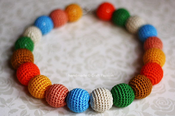 colorful crochet bead