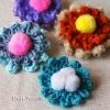Easy Flower Brooch Crochet Pattern