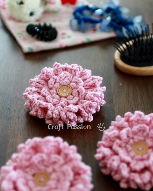 ruffle flower pattern
