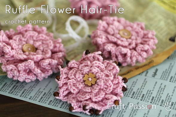 crochet ruffle flowers pattern