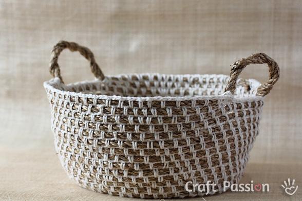 Hemp Basket Free Crochet Pattern Craft Passion