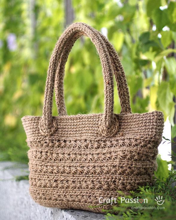 twine crochet bag