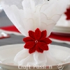 Poinsettia Napkin Ring Crochet Pattern