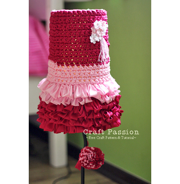 crochet lampshade cover