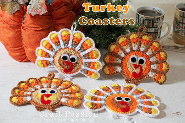 Turkey Coasters Crochet Pattern