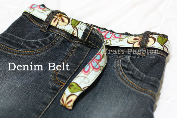 denim belt pattern