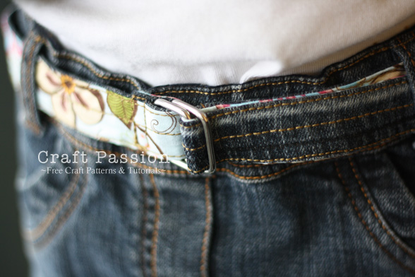 sew reversible denim belt
