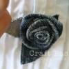Sew Denim Rosette Brooch