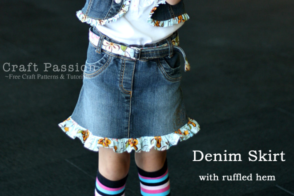 Upcycle Dress To Denim Skirt