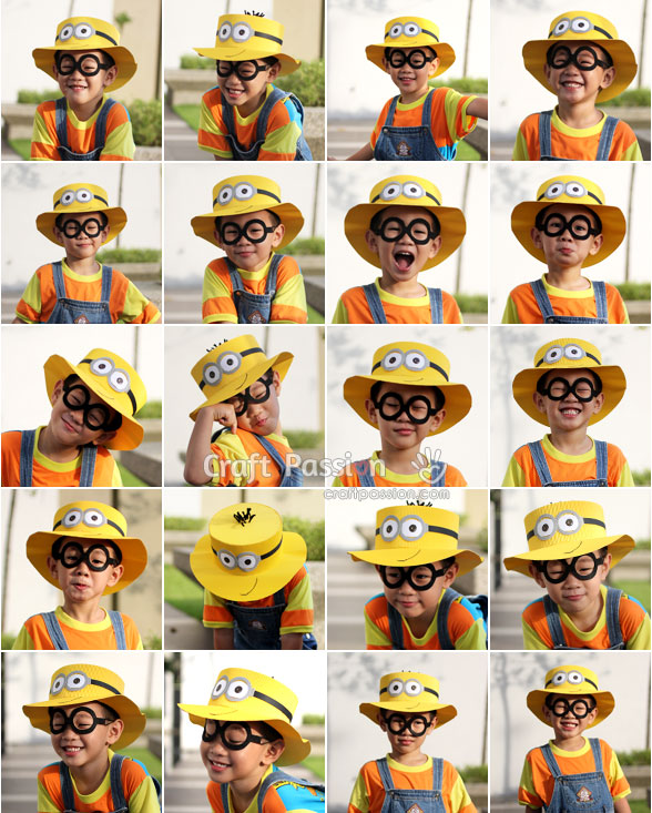 20 faces of minions hat