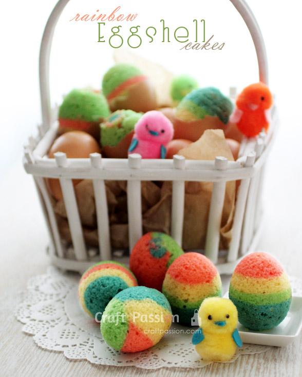 easter eggshell cakes