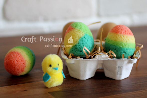 Colorful Easter Eggshell Cake