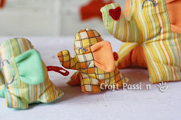 sew elephant stuffed toy