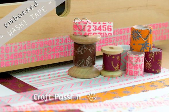 DIY Embossed Washi Tape