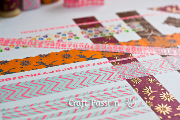 make washi tape from tissue paper