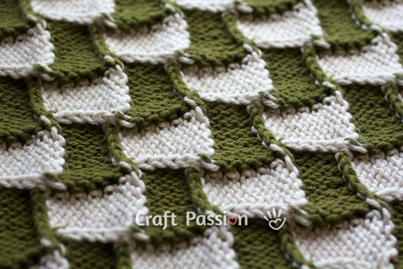 Entrelac Pattern Free Knit Tutorial Craft Passion