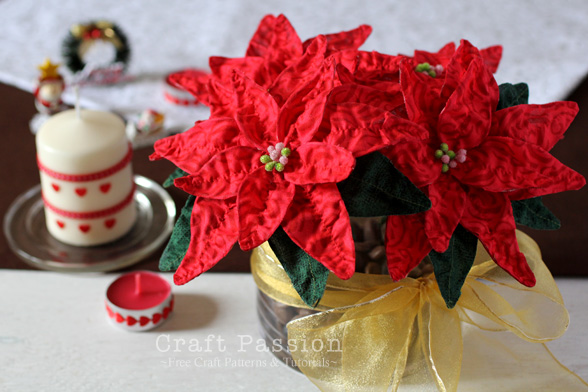 diy poinsettia