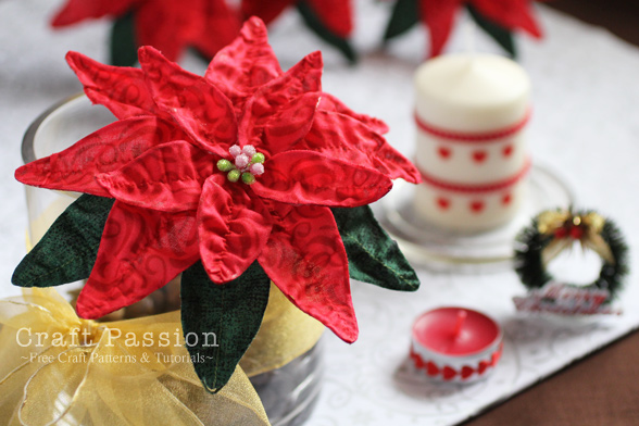 DIY Fabric Poinsettia