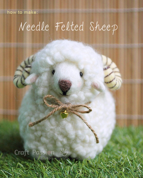 Needle Felted Sheep Remie - How To | Craft Passion